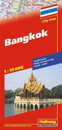 Bangkok Hallwag stadskarta : 1:15000