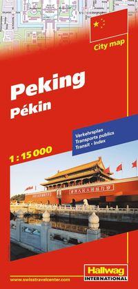 Beijing Hallwag stadskarta : 1:15000