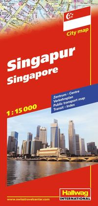 Singapore Hallwag stadskarta : 1:15000