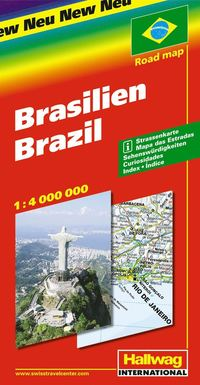 Brasilien Hallwag karta : 1:4milj