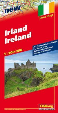 Irland Hallwag karta : 1:300000
