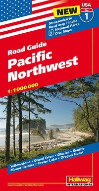bokomslag USA Pacific Northwest/Nordvästra USA karta nr 1 Ha : 1:1milj