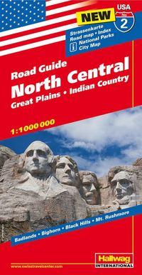 USA North Central/Norra & Centrala USA karta nr 2 : 1:1milj
