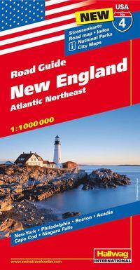 USA New England karta nr 4 Hallwag : 1:1milj