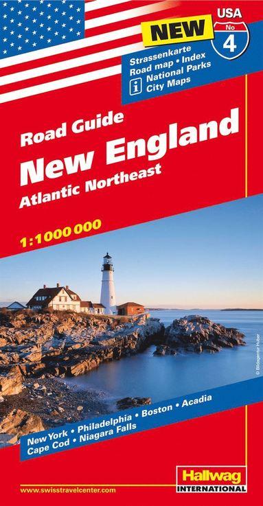 bokomslag USA New England karta nr 4 Hallwag : 1:1milj