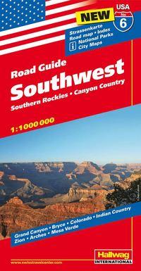 USA Southwest/Sydvästra USA karta nr 6 Hallwag : 1:1milj