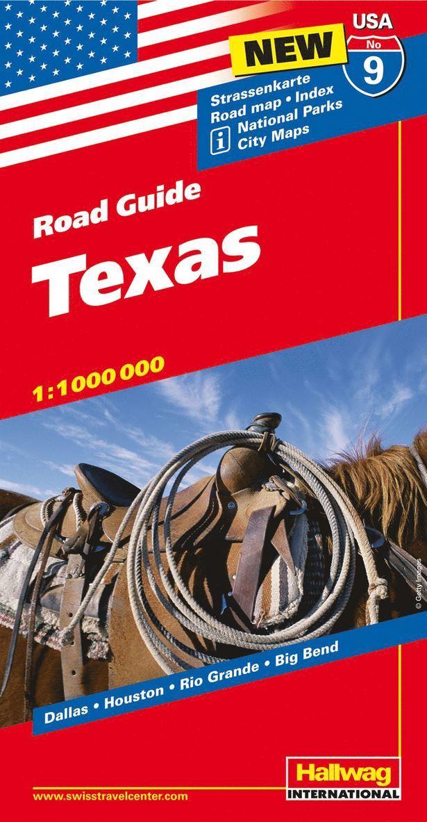 USA Texas karta nr 9 Hallwag : 1:1milj 1