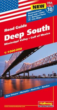 USA Deep South/Södra USA karta nr 10 Hallwag : 1:1milj