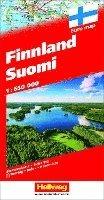 bokomslag Finnland Suomi Strassenkarte 1:650 000