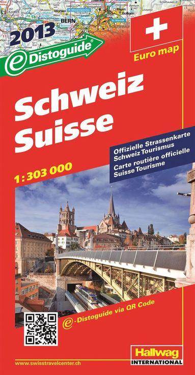 bokomslag Schweiz Distoguide Hallwag karta : 1:303000