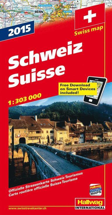 bokomslag Schweiz 2015 Hallwag karta : 1:303000