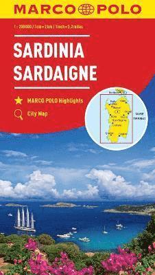 bokomslag MARCO POLO Karte Italien 15. Sardinien 1:200 000