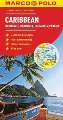bokomslag Caribbean Marco Polo Map