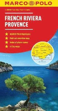 bokomslag French Riviera, Provence Marco Polo Map