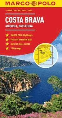 Costa Brava - Andorra, Perpignan, Barcelona Marco Polo Map
