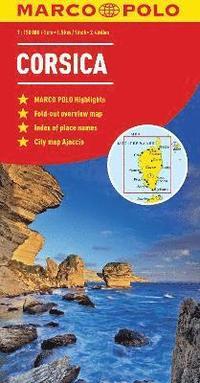 bokomslag Corsica Marco Polo Map