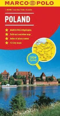 bokomslag Poland Marco Polo Map