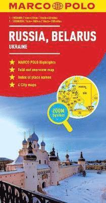 bokomslag Russia/Belarus Map: And Ukraine