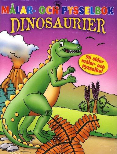 bokomslag Målar- och pysselbok Dinosaurier