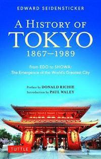 bokomslag A History of Tokyo 1867-1989