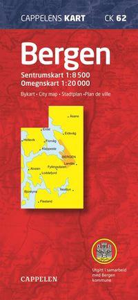bokomslag Bergen Cappelen CK62 stadskarta : 1:8500-1:20000