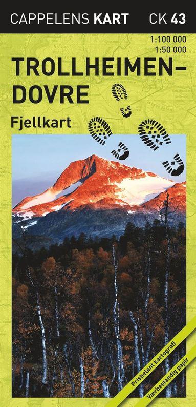 bokomslag Trollheimen-Dovre Fjellkart Cappelen CK43 : 1:50000-1:100000
