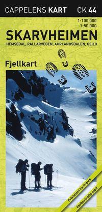 bokomslag Skarvheimen Hemsedal Rallarvegen Aurlandsdalen Geilo Fjellkart Cappelen CK44 : 1:50000-1:100000