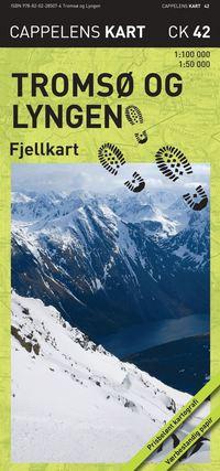 bokomslag Tromsö og Lyngen Fjellkart Cappelen CK42 : 1:50000-1:100000