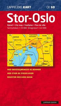 bokomslag Stor Oslo Cappelen CK60 stadskarta : 1:10000-1:22000