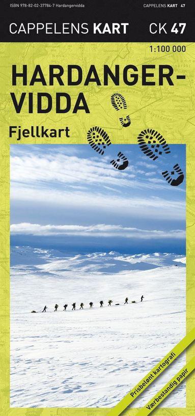bokomslag Hardangervidda Fjellkart CK47 : 1:100000