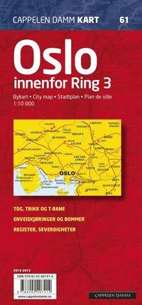 Oslo innenfor Ring 3 Cappelen CK61 stadskarta - 1:10000
