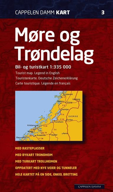 bokomslag Möre og Tröndelag Norge CK3 karta : 1:335000