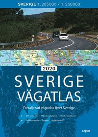 bokomslag Sverige vägatlas 2020