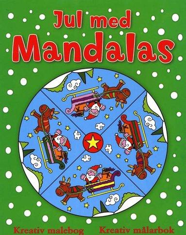 bokomslag Jul med mandalas (grön)