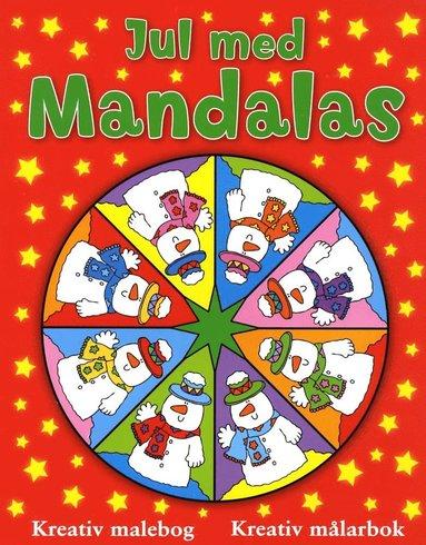 bokomslag Jul med mandalas (röd)