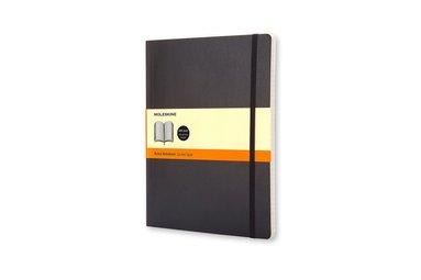 Anteckningsbok Moleskine XL linjerad mjuk svart