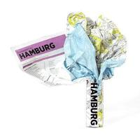 bokomslag Hamburg Crumpled City Map