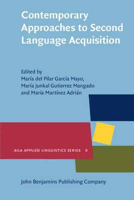 bokomslag Contemporary Approaches to Second Language Acquisition