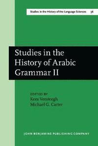 bokomslag Studies in the History of Arabic Grammar II