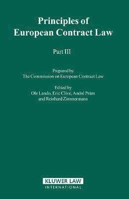 bokomslag Principles of European Contract Law - Part III