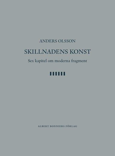bokomslag Skillnadens konst : sex kapitel om moderna fragment