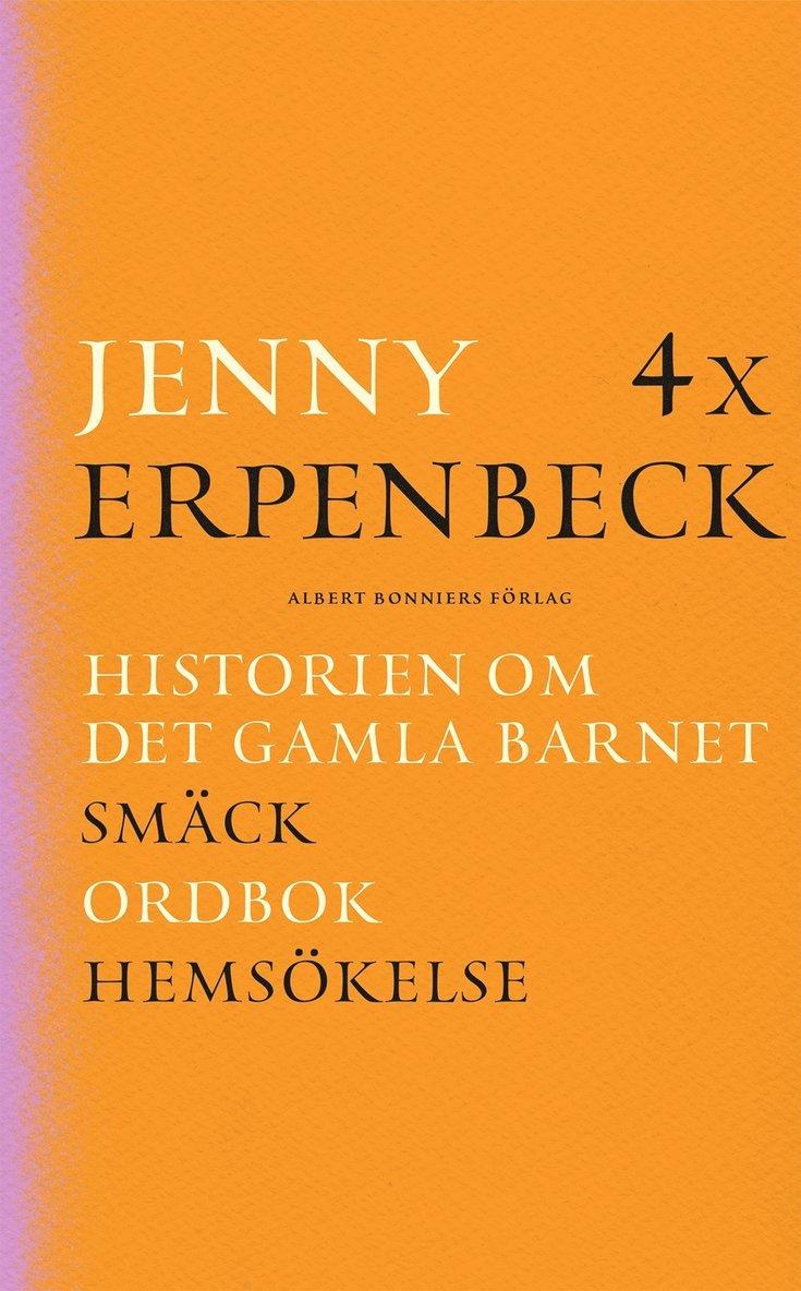 4 x Erpenbeck : Historien om det gamla barnet; Smäck; Ordbok; Hemsökelse 1