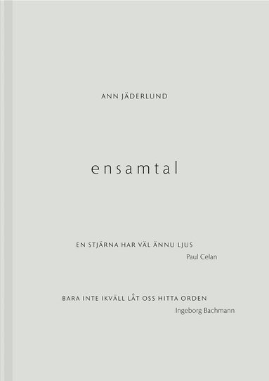 bokomslag Ensamtal