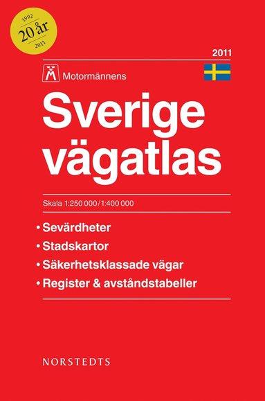 bokomslag Sverige Vägatlas 2011 Motormännens - 1:250000/1:400000