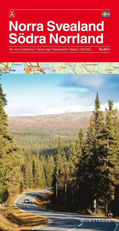 bokomslag Norra Svealand/Södra Norrland Bil & Turistkarta Nr4 : 1:250000