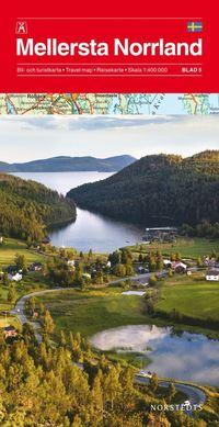 Mellersta Norrland Bil & Turistkarta Nr5 : 1:400000
