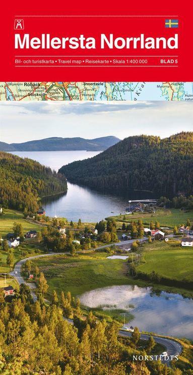 bokomslag Mellersta Norrland Bil & Turistkarta Nr5 : 1:400000