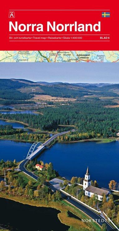 bokomslag Norra Norrland Bil & Turistkarta Nr6 : 1:400000