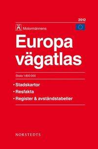 Europa Vägatlas 2012 Motormännen - 1:800000
