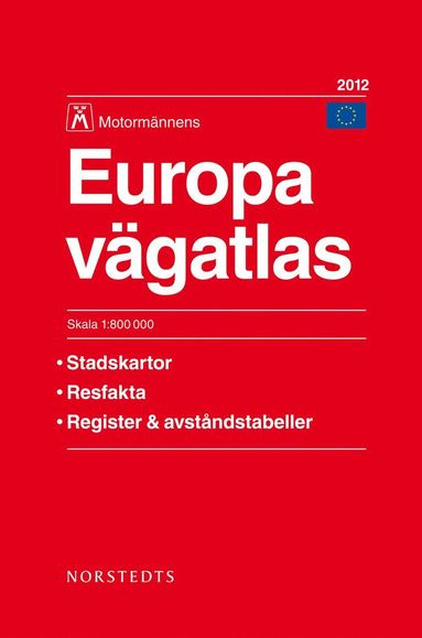 bokomslag Europa Vägatlas 2012 Motormännen - 1:800000